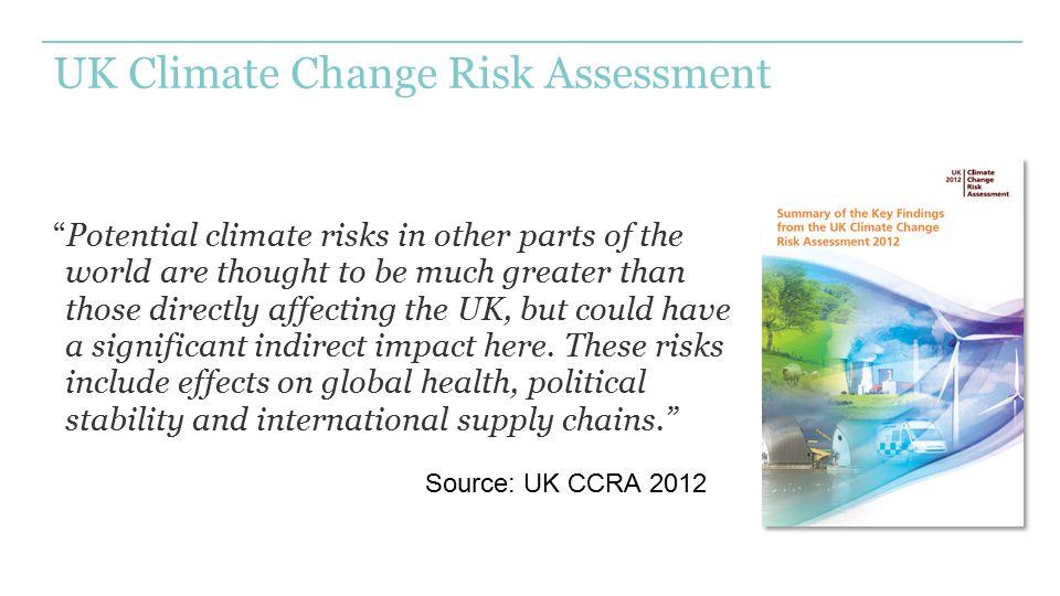 UK Climate Change Risk Assessment