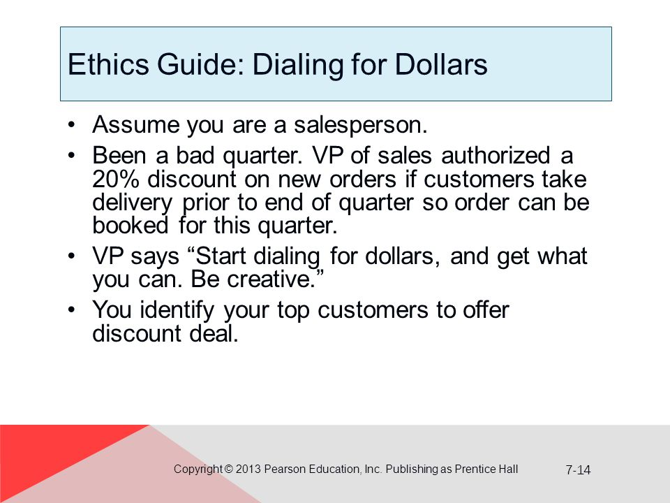 Ethics Guide: Dialing for Dollars
