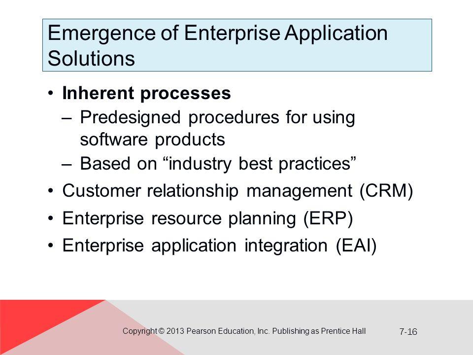 Emergence of Enterprise Application Solutions
