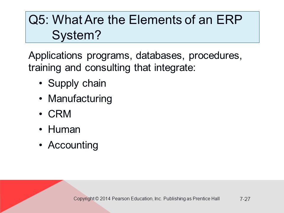 Q5: What Are the Elements of an ERP System