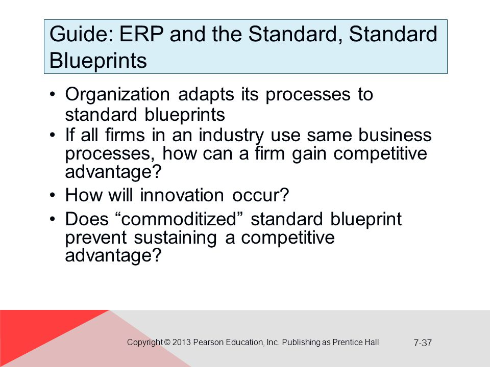 Guide: ERP and the Standard, Standard Blueprints