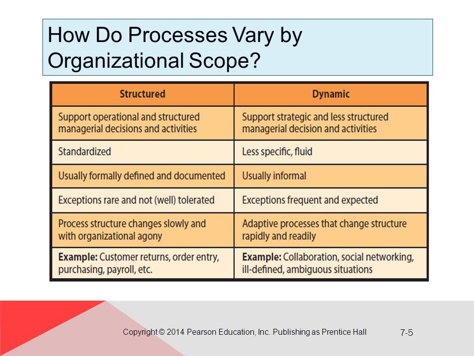 How Do Processes Vary by Organizational Scope