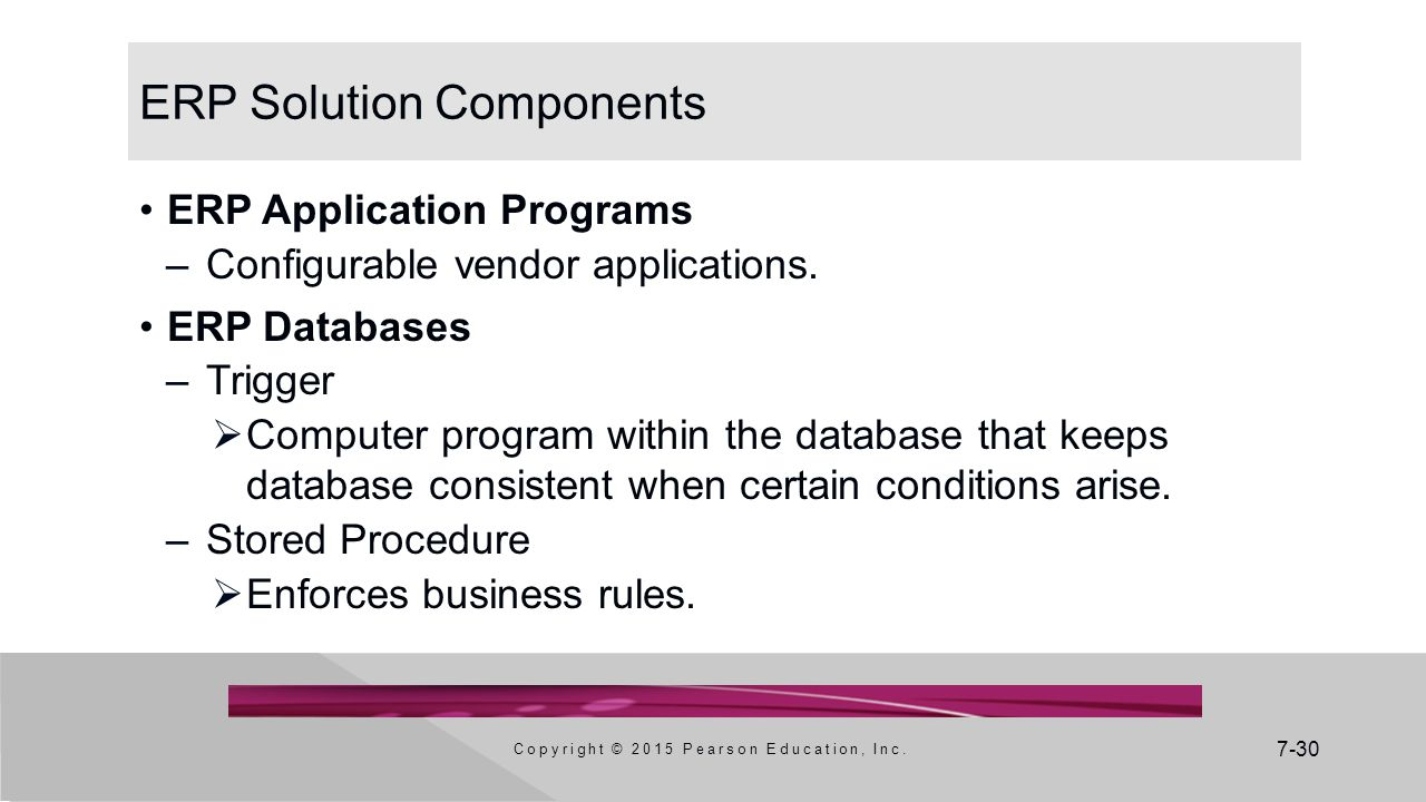 ERP Solution Components