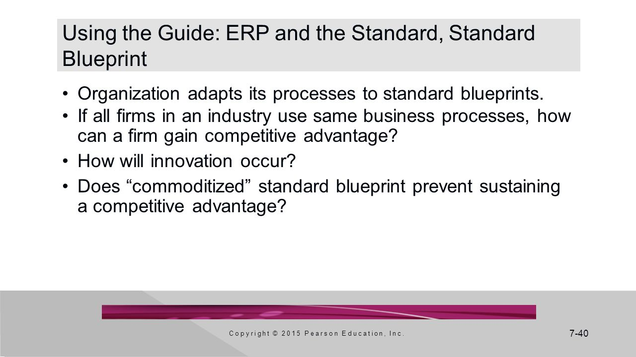 Using the Guide: ERP and the Standard, Standard Blueprint
