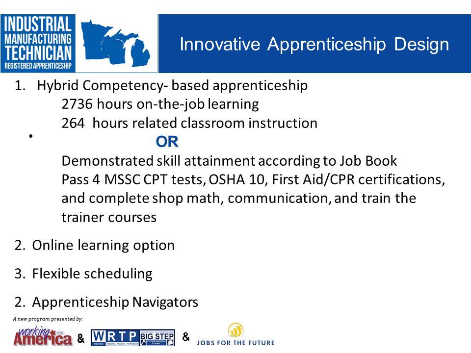 Innovative Apprenticeship Design