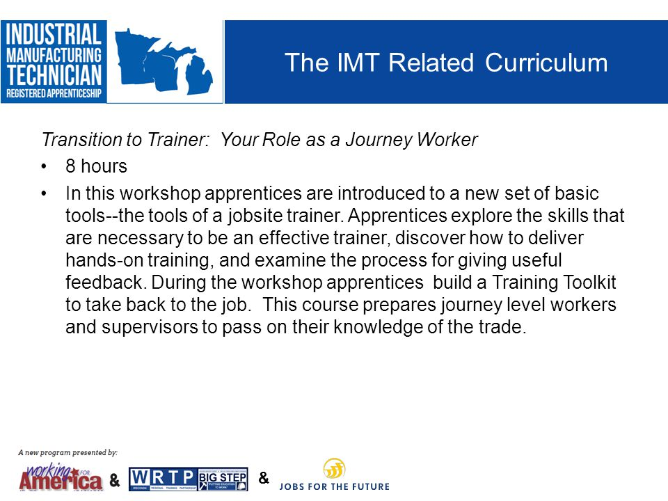 The IMT Related Curriculum