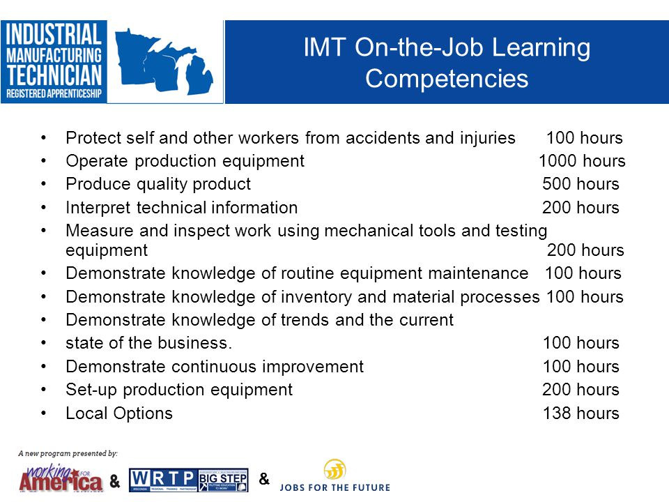 IMT On-the-Job Learning Competencies