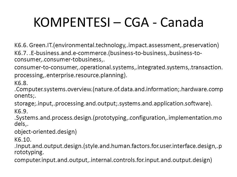 KOMPENTESI – CGA - Canada