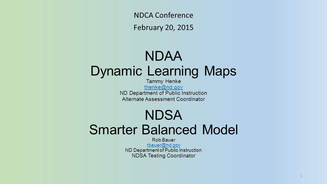 NDCA Conference February 20, 2015