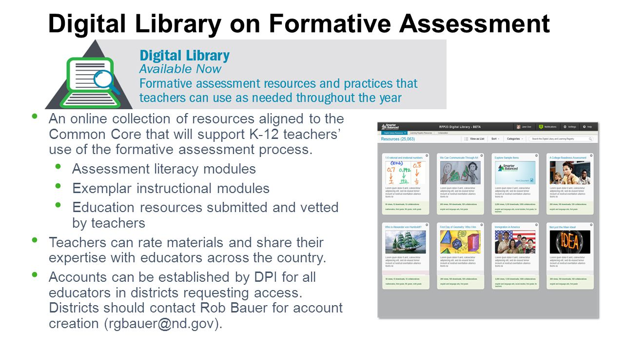 Digital Library on Formative Assessment
