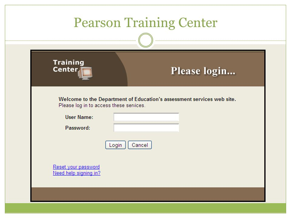 Pearson Training Center