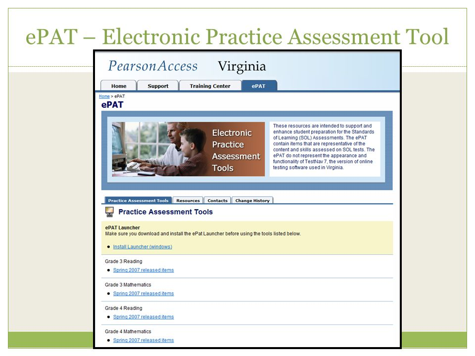 ePAT – Electronic Practice Assessment Tool