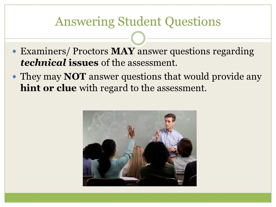 Answering Student Questions