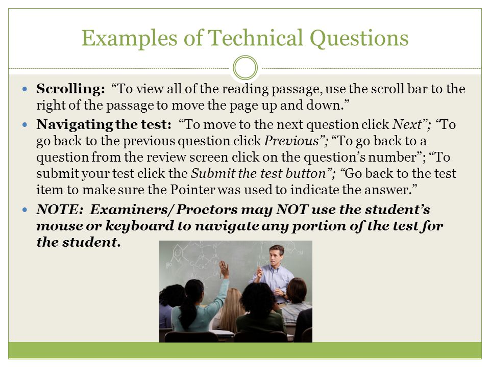 Examples of Technical Questions