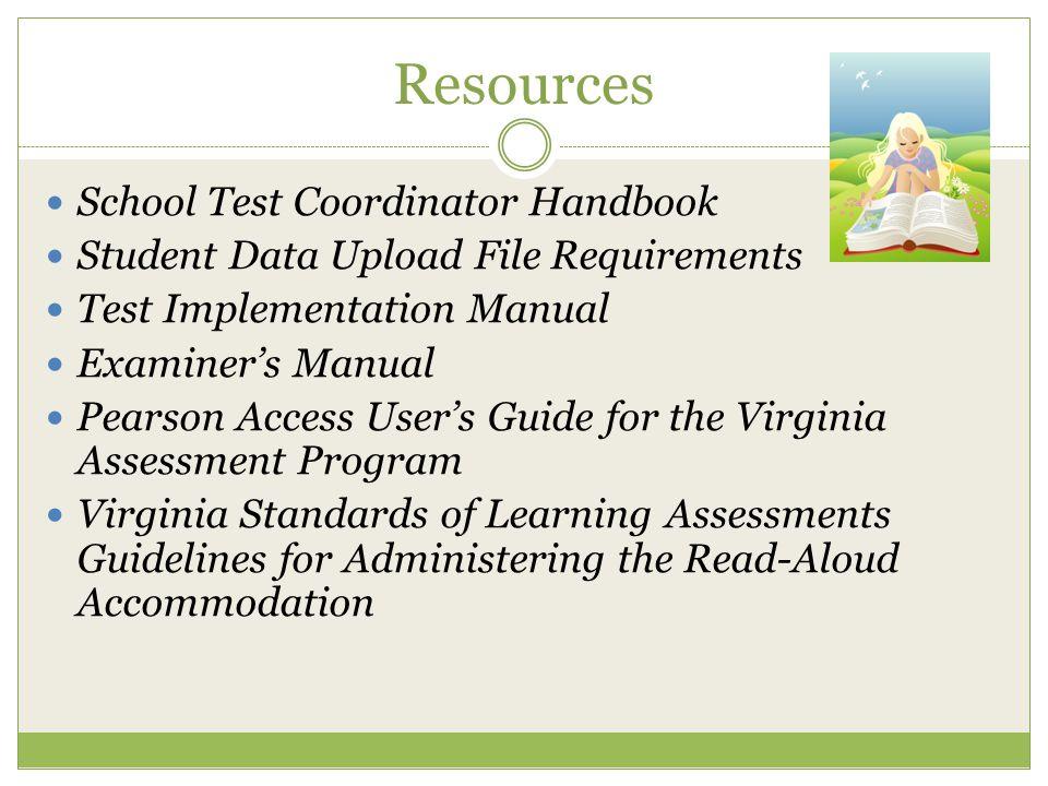 Resources School Test Coordinator Handbook