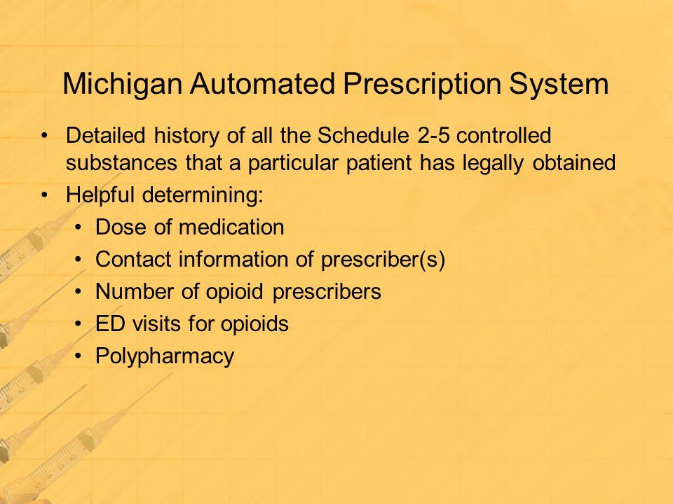 Michigan Automated Prescription System