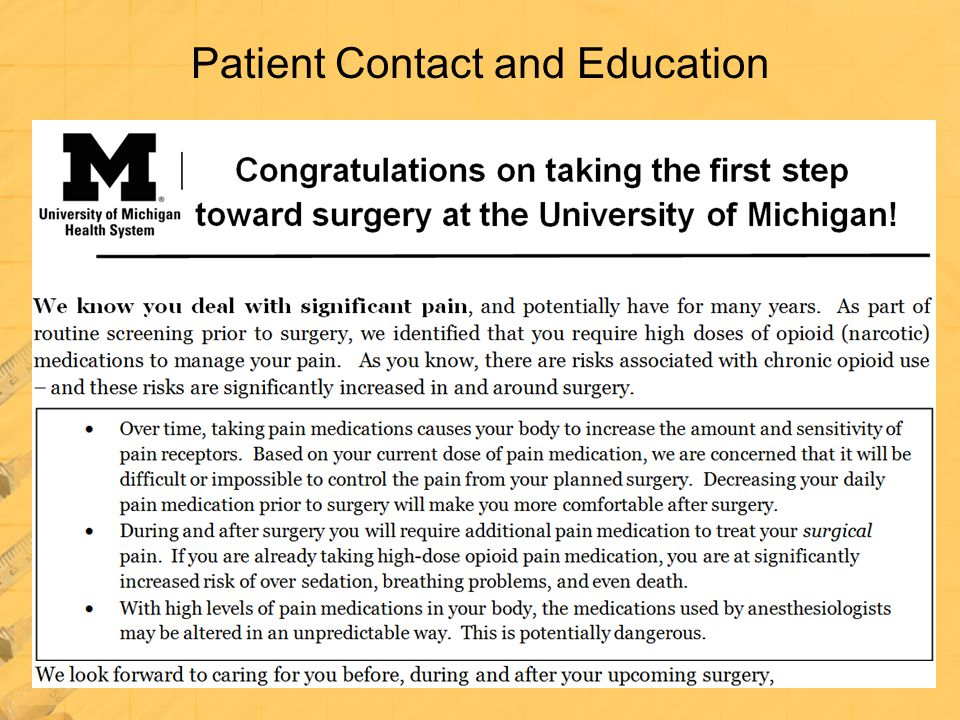 Patient Contact and Education