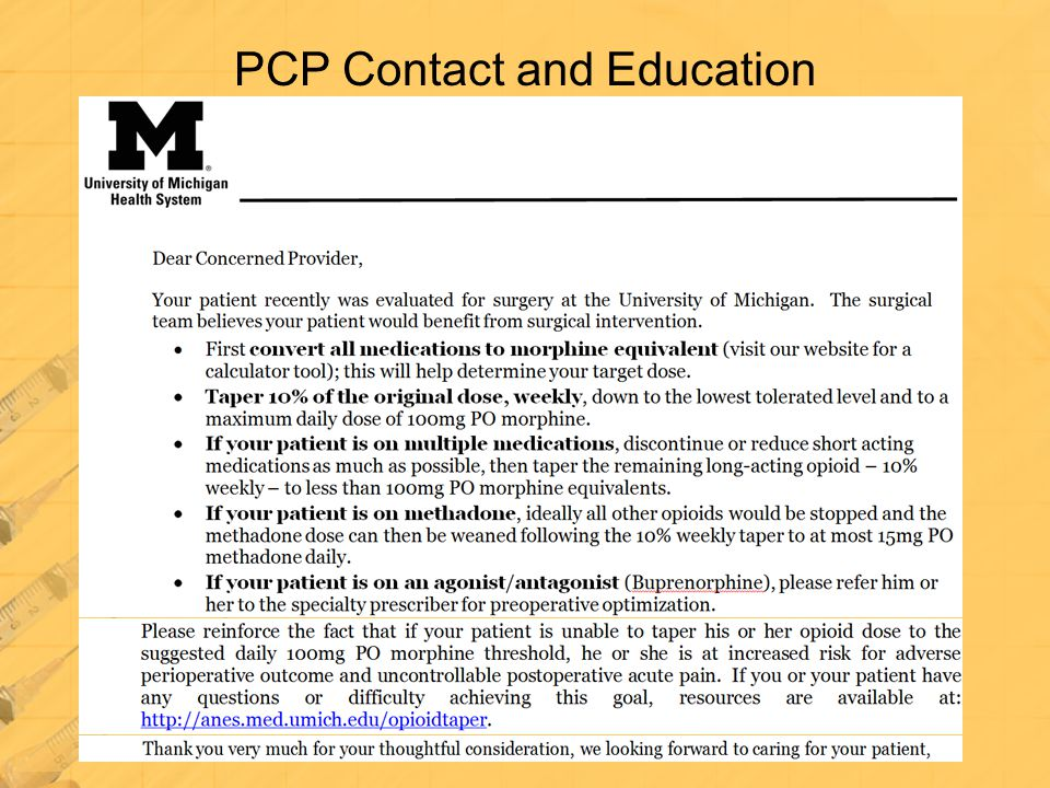 PCP Contact and Education