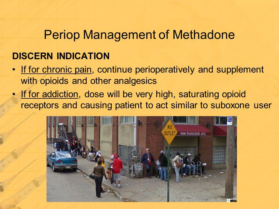 Periop Management of Methadone
