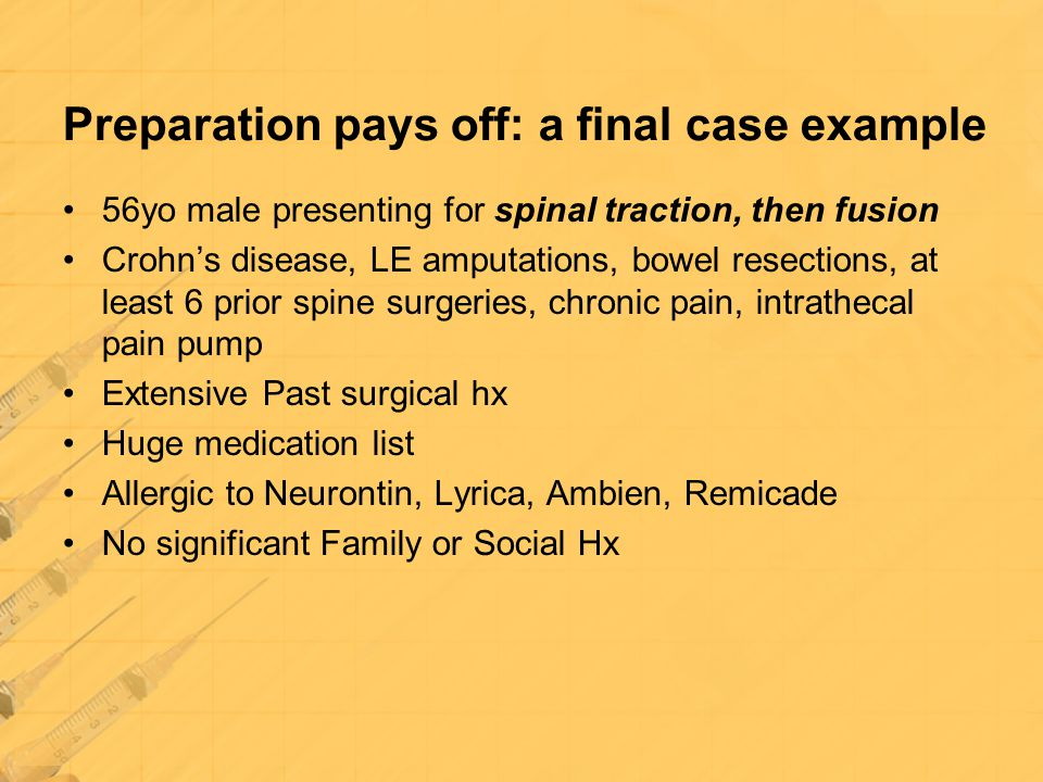 Preparation pays off: a final case example