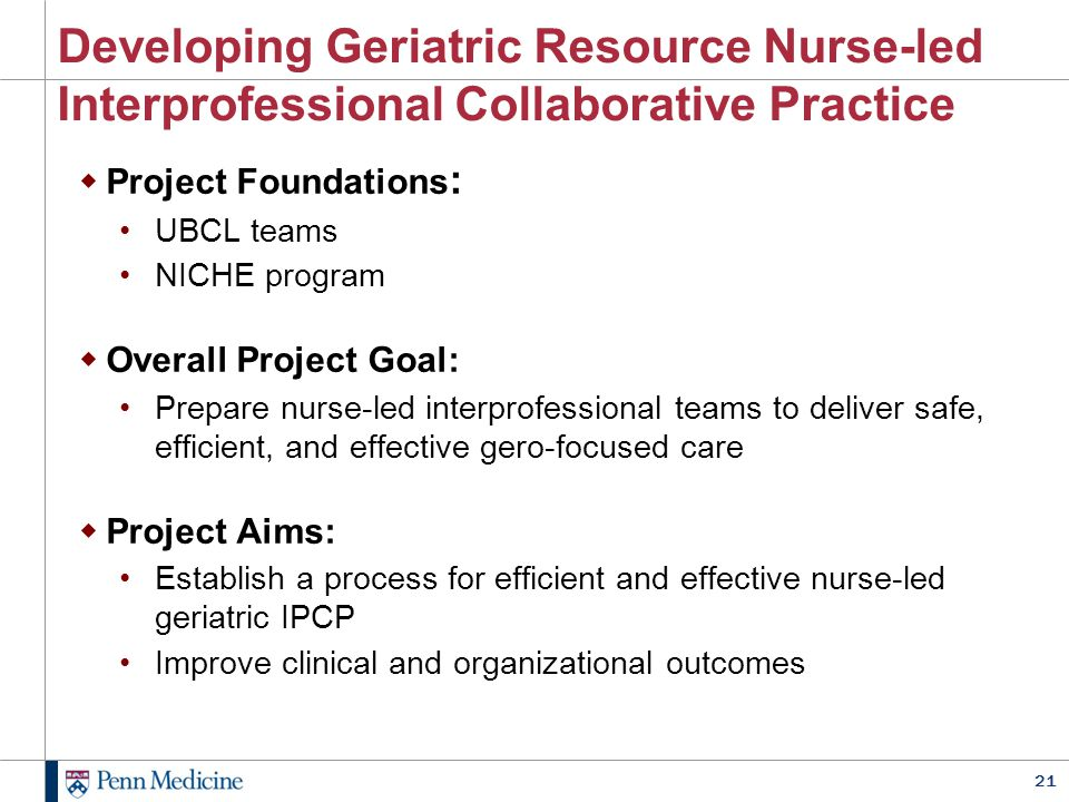 REBECCA We leveraged existing interprofessional structures already in place at HUP.