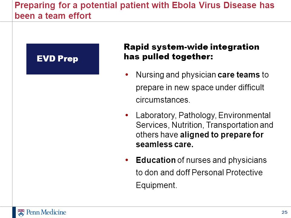 Preparing for a potential patient with Ebola Virus Disease has been a team effort