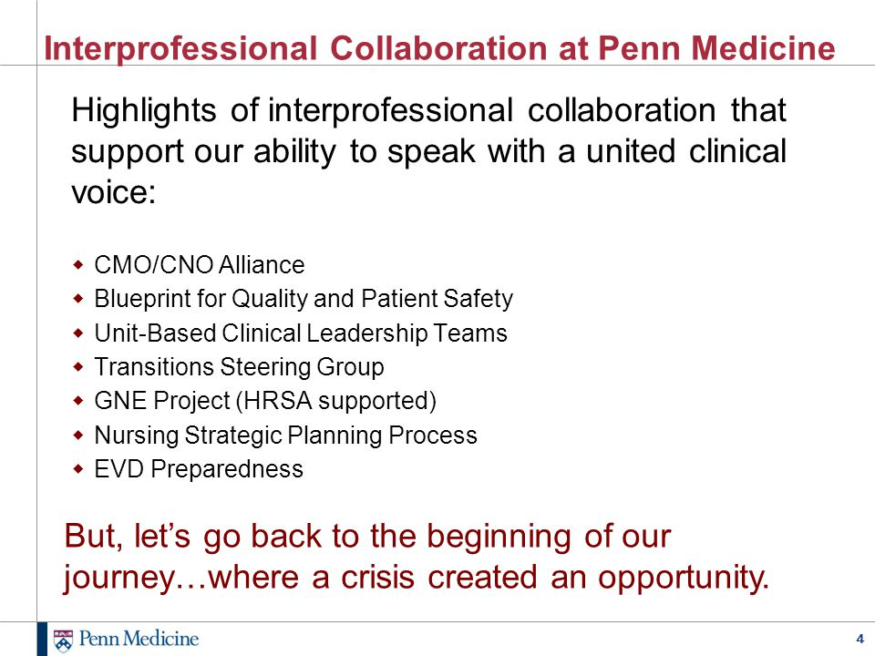 Interprofessional Collaboration at Penn Medicine