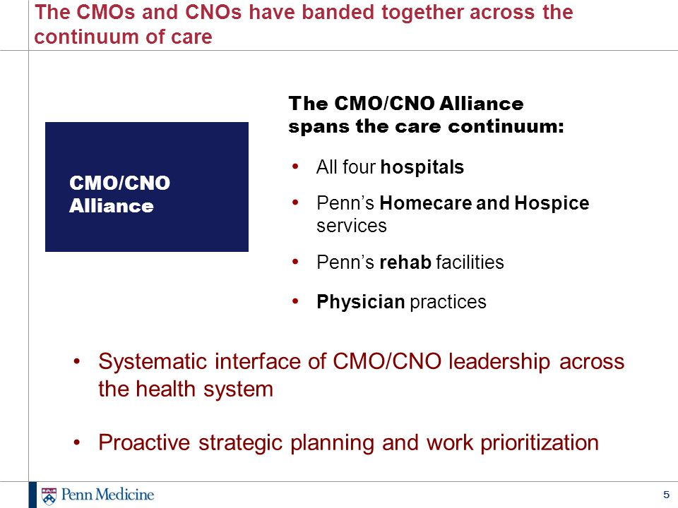 The CMOs and CNOs have banded together across the continuum of care