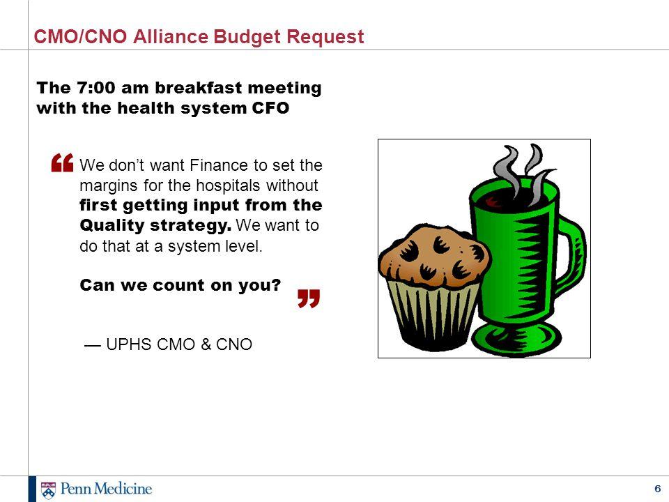 CMO/CNO Alliance Budget Request