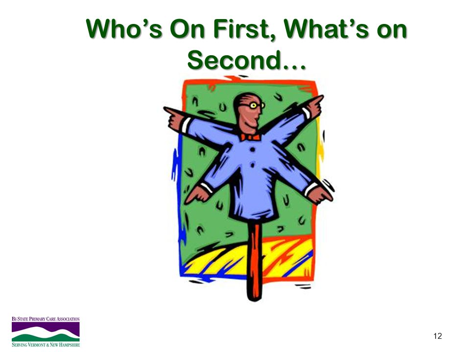Who's On First, What's on Second…