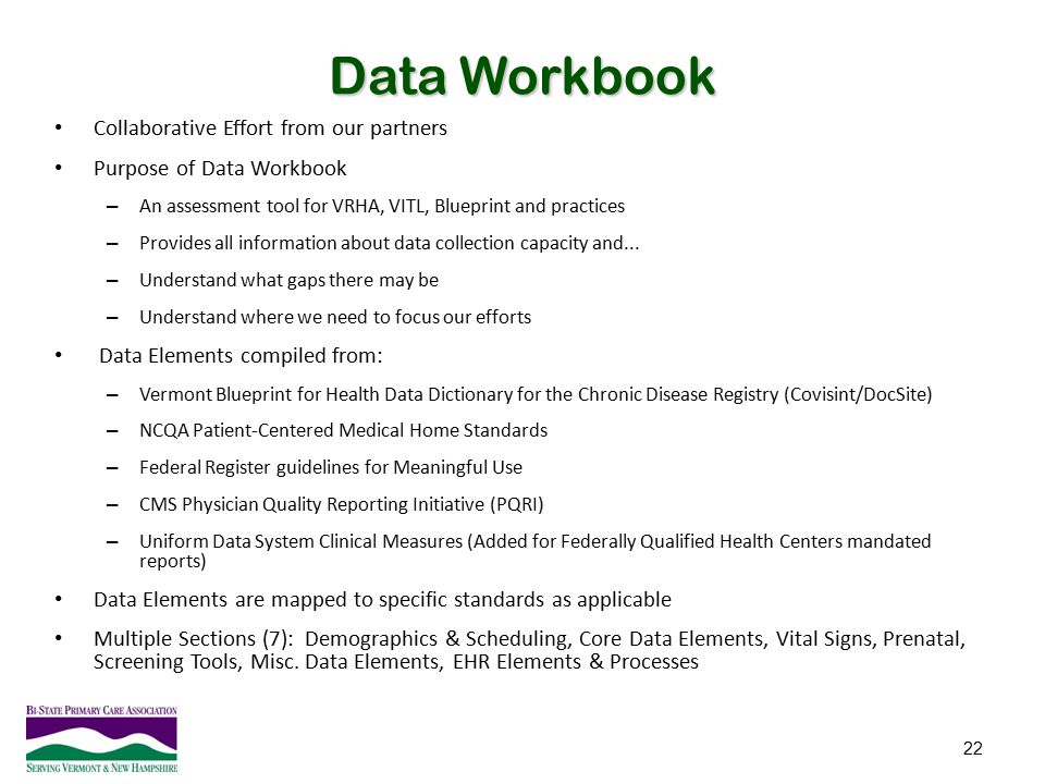 Data Workbook Collaborative Effort from our partners