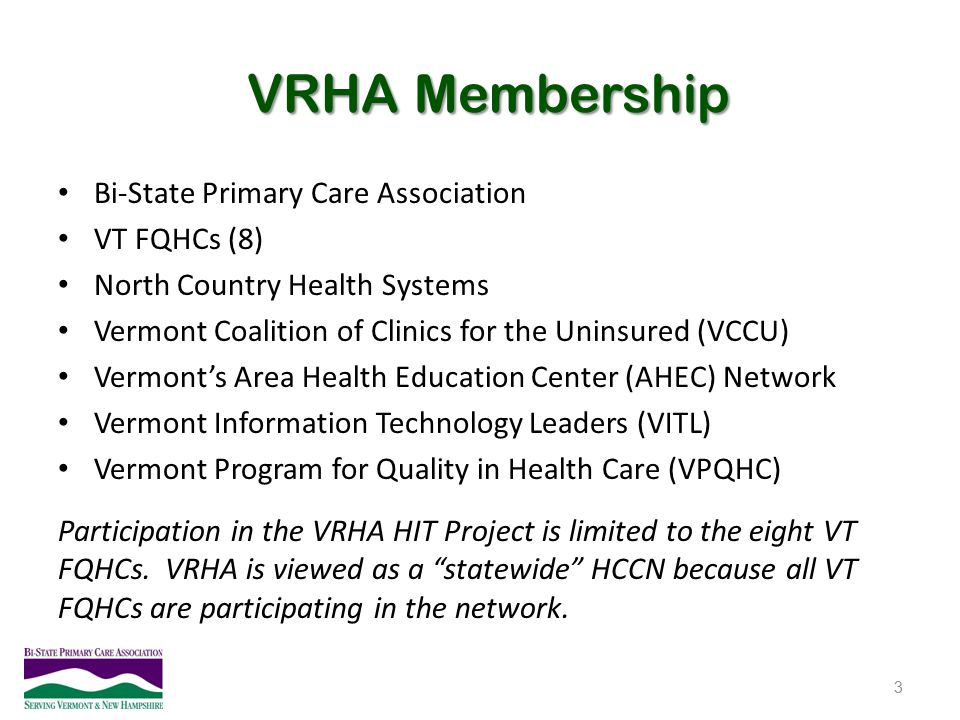 VRHA Membership Bi-State Primary Care Association VT FQHCs (8)