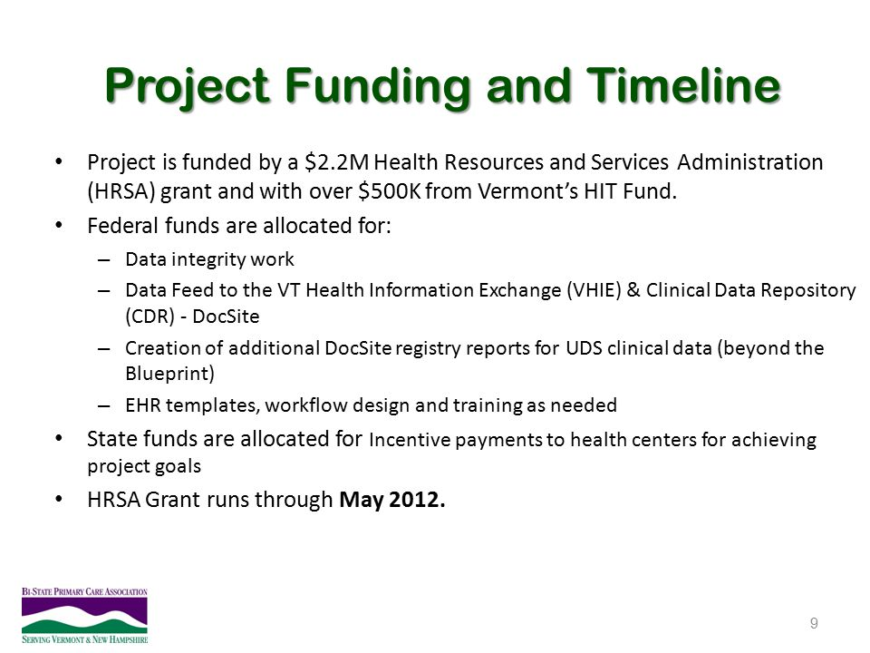 Project Funding and Timeline