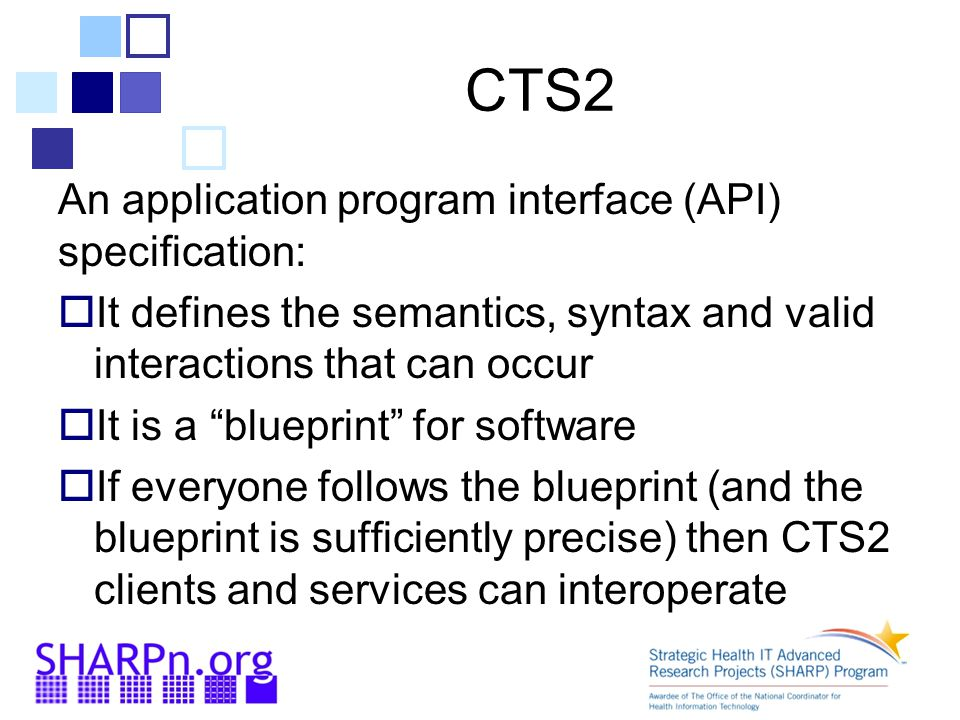 CTS2 An application program interface (API) specification: