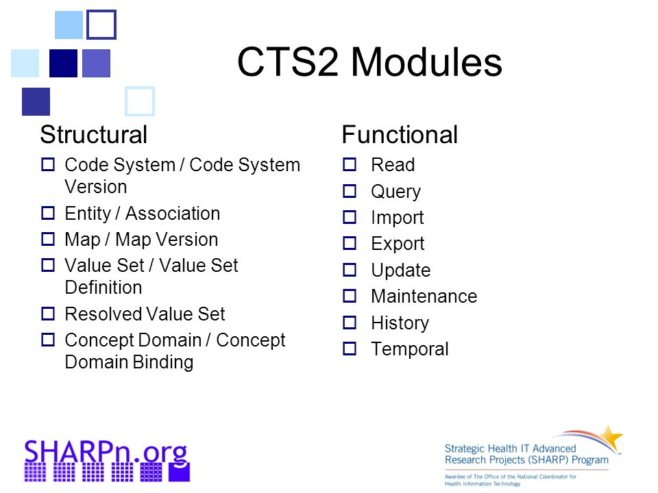 CTS2 Modules Structural Functional Code System / Code System Version