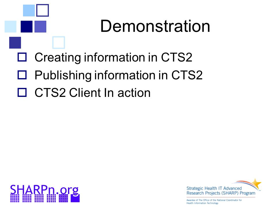 Demonstration Creating information in CTS2