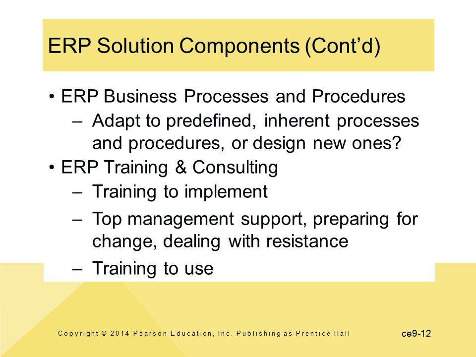 ERP Solution Components (Cont'd)