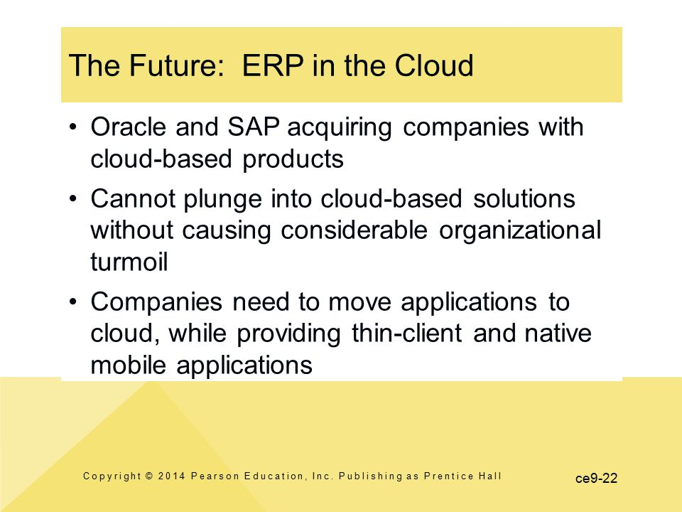 The Future: ERP in the Cloud