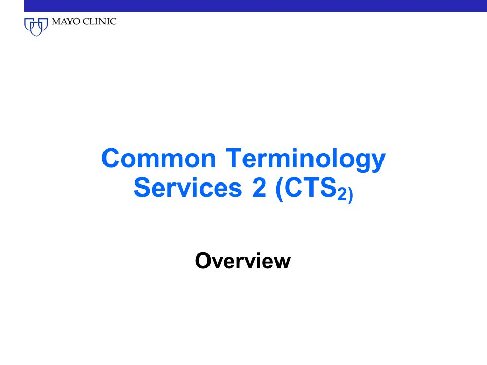 Common Terminology Services 2 (CTS2)