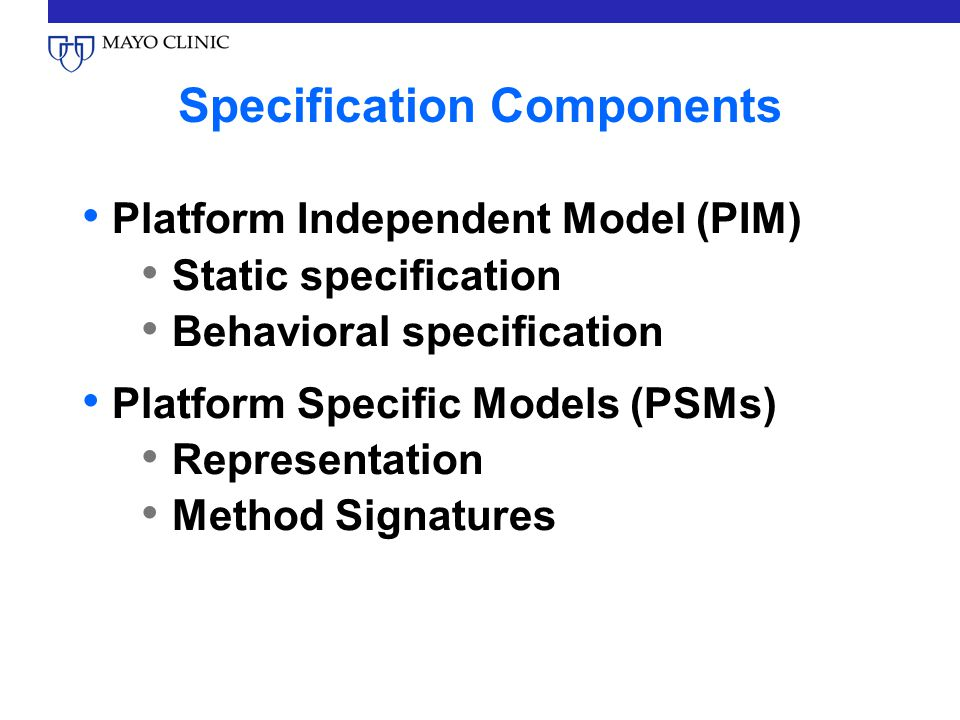 Specification Components