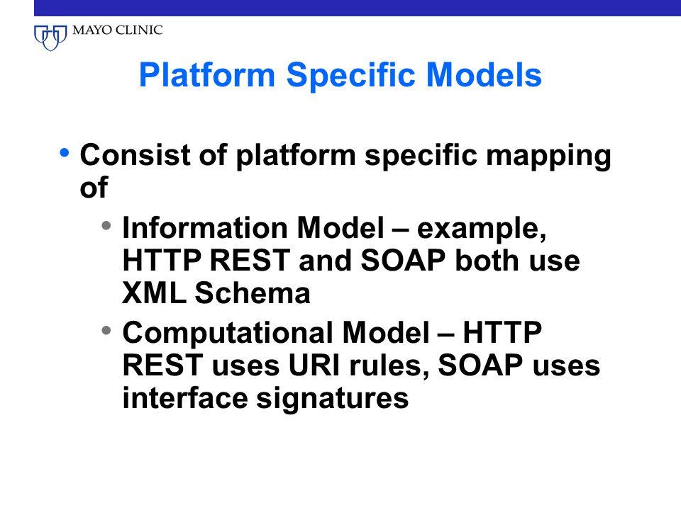 Platform Specific Models