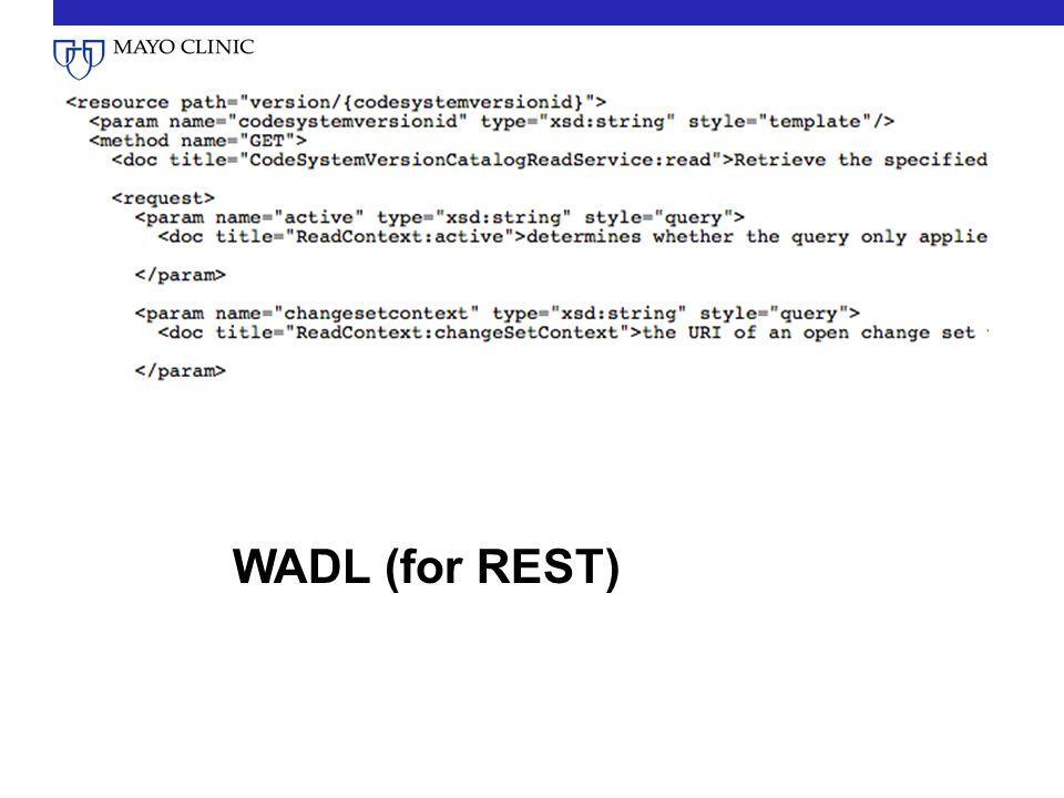 WADL (for REST)