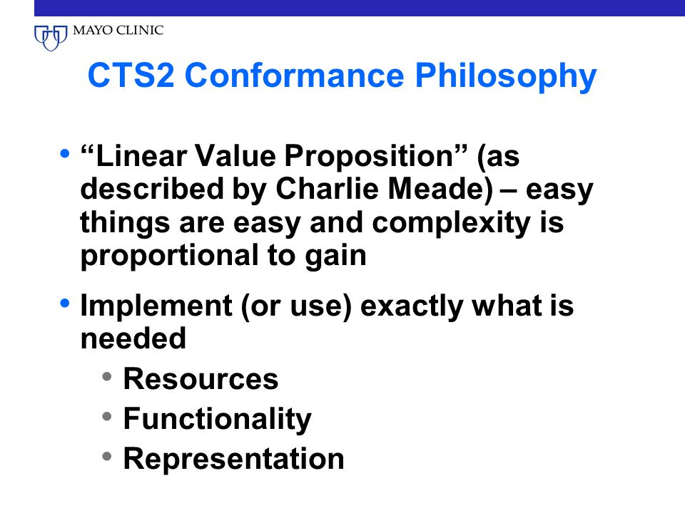 CTS2 Conformance Philosophy