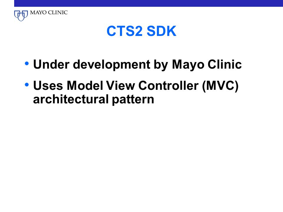 CTS2 SDK Under development by Mayo Clinic