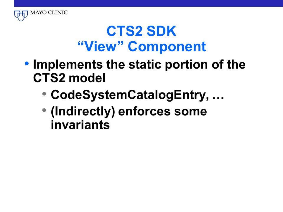 CTS2 SDK View Component