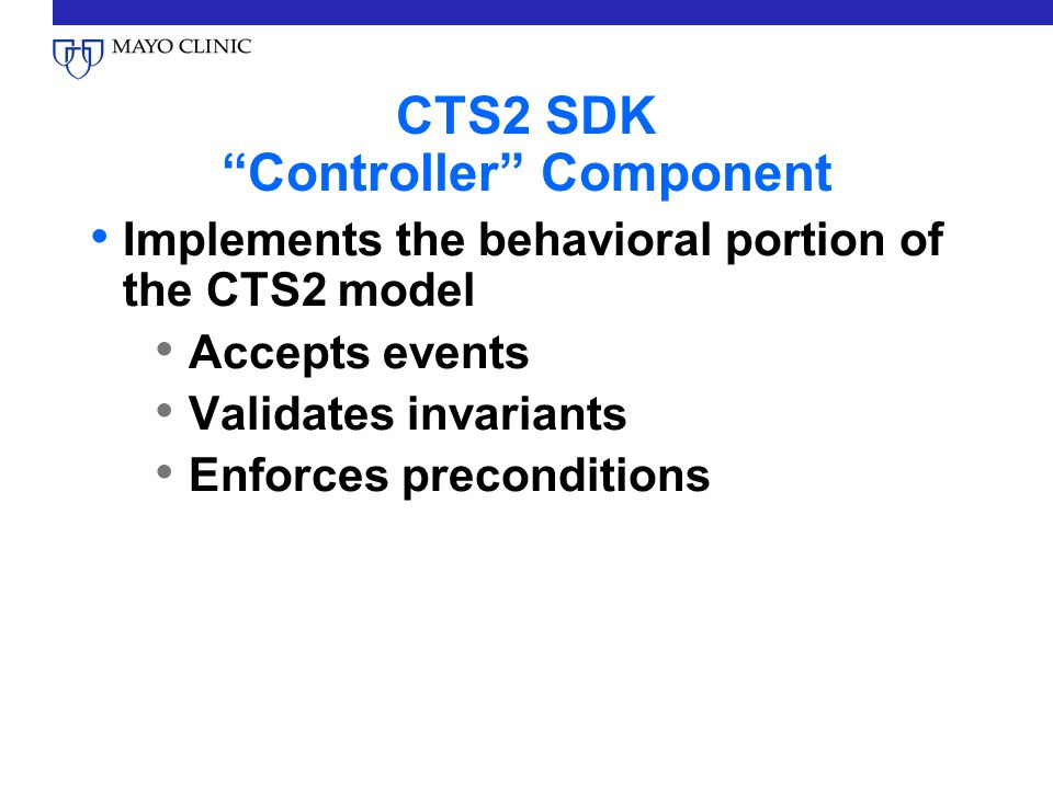 CTS2 SDK Controller Component