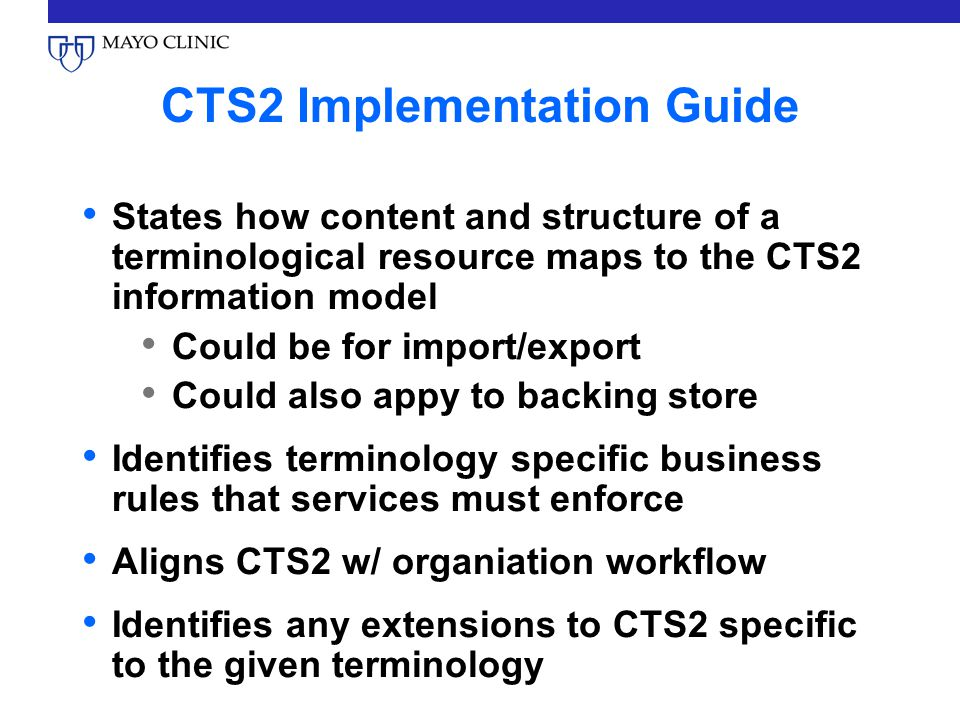 CTS2 Implementation Guide