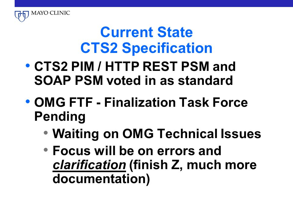 Current State CTS2 Specification