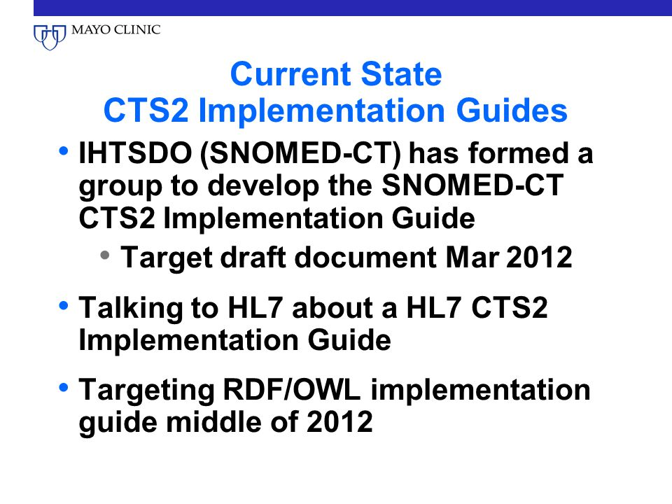 Current State CTS2 Implementation Guides