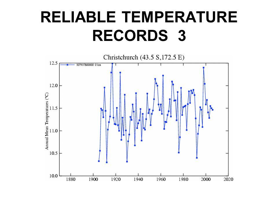 RELIABLE TEMPERATURE RECORDS 3